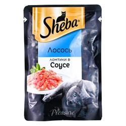 Корм для кошек Шеба лосось в соусе 85г - фото 4529