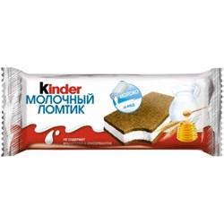 Пирожное Киндер молочный ломтик молоко и мед 28г - фото 4568