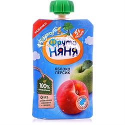 Пюре Фруто-няня персиковое 90г м/у - фото 4595