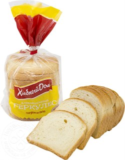 Хлеб Фацер геркулес молочный нарезка 250г - фото 4622