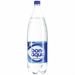 Вода Бонаква чистая питьевая газированная 1л - фото 4624