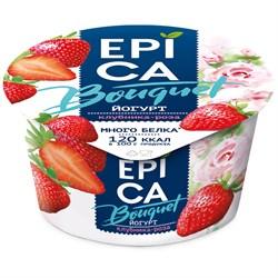 Йогурт Эпика клубника-роза 4,8% 130г - фото 4716