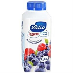 Йогурт Валио питьевой малина и черника 0,4% 330г - фото 4731