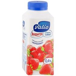 Йогурт Валио питьевой клубника 0,4% 330г - фото 4732