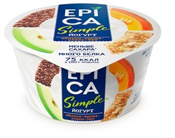 Йогурт Эпика Симпл яблоко-тыква-злаки-семена льна 1,7% 130г - фото 4758