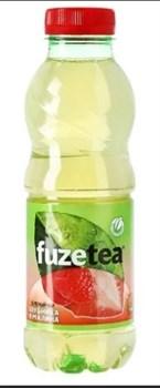 Чай освежающий Фьюз зеленый клубника-малина 0,5л пэт - фото 4765