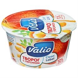 Творог Валио с персиком 3,5% 140г - фото 4769