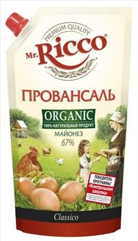 Майонез Мистер Рикко провансаль органик 67% 400мл - фото 4821