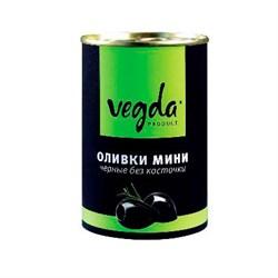 Оливки Вегда черные мини без косточки 300г - фото 4827