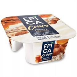 Йогурт Эпика Криспи карамель-семечки-орех кара 10,2% 140г - фото 4859