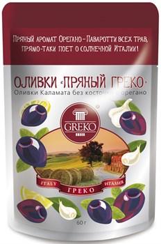 Оливки Греко Пикантный греко 60г пакет - фото 4910