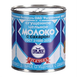 Молоко Рогачевский мк сгущенное цельное 8,5% 380г - фото 4939