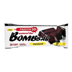 Батончик Бомббар протеиновый неглазированный двойной шоколад 60г - фото 4968