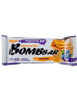 Батончик Бомббар протеиновый неглазированный смородиново-черничный панкейк 60г - фото 4975