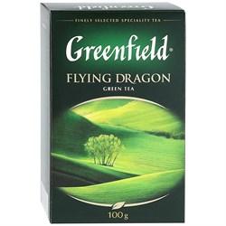 Чай Гринфилд флаинг драгон китайский зеленый 100г - фото 4996