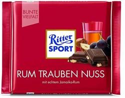 Шоколад Риттер Спорт молочный ром-изюм-лесной орех 100г - фото 4997