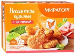 Наггетсы Мираторг куриные с ветчиной 300г - фото 5007