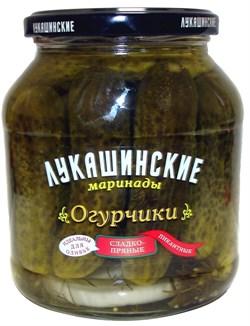 Огурчики Лукашинские Мини маринованные пикантные сладко-пряные 340г - фото 5014
