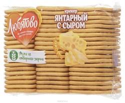 Крекер Любятово янтарный с сыром 500гр - фото 5027