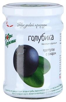 Голубика Ягоды карелии протертая с сахаром 280г - фото 5123