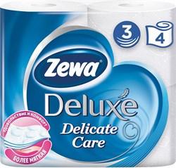Бумага туалетная Зева делюкс белая 3-х-слойная 4 рулона - фото 5133