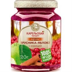 Варенье Карельский продукт из брусники и яблока с корицей 320г ст/б - фото 5138