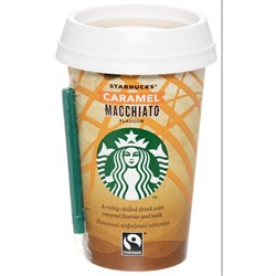 Напиток Старбакс молочный кофейный Карамель Макчиато 1,6% 220мл стакан - фото 5157