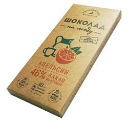Шоколад Гагаринские мануфактуры молочный на меду апельсин 46% какао 85г - фото 5191