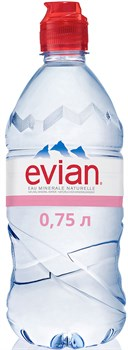 Вода Эвиан минеральная негазированная 0,75л - фото 5290