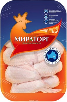 Крыло Мираторг цыпленка с кожей 750г - фото 5295