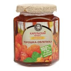 Варенье Карельский продукт домашнее из морошки с облепихой 320г ст/б - фото 5320