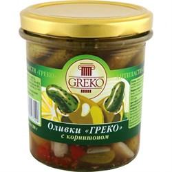 Оливки Греко с корнишоном б/к 280г ст/б - фото 5344