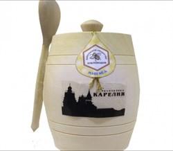 Мед Карельское общ. пче. в деревянном бочонке с ложкой 350г - фото 5363