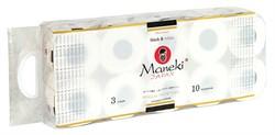 Бумага туалетная Манеки блек энд вайт иланг-иланг 3-х слойная 10 рулонов - фото 5368