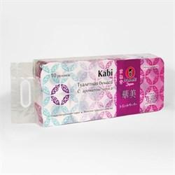 Бумага туалетная Манеки каби аромат ириса 3-х слойная 10 рулонов - фото 5376