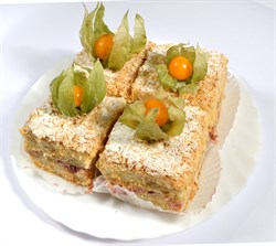 Торт Наполеон ягодный 100 г. - фото 6849