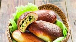 Пирожок печеный с луком,яйцом 60г - фото 6912