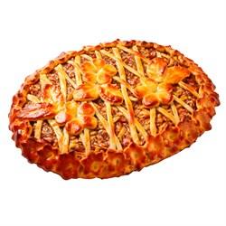 Пирог с яблоками и повидлом из дрожжевого теста 12ч/24ч 100 г. - фото 7094
