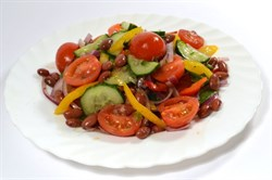 Салат цветной с фасолью* 100 г. - фото 7497
