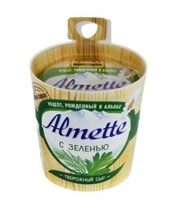 Сыр Альметте с зеленью творожный 60% 150г - фото 7672