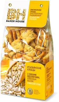 Хлебцы Бейкер Хаус семена подсолнечника/оливковое масло/соль 250г - фото 7785