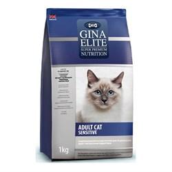 Корм для кошек Джина Элит для чувствительных кошек 1000г - фото 7815
