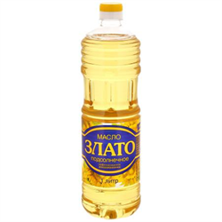 Масло Злато подсолнечное рафинированное 1л - фото 8094