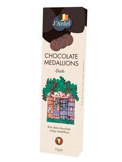 Медальоны ГВС из горького шоколада 75г - фото 8412