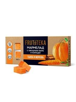 Мармелад Фрутотека с овощным пюре и корицей тыква и морковь 180г - фото 8464
