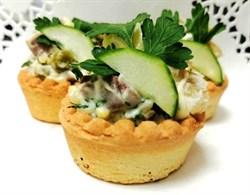 Тарталетка салат мясной 1шт - фото 8852