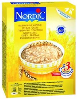Каша Нордик пшеничные хлопья 600г - фото 8887