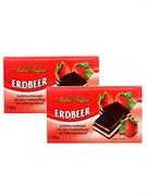 Шоколад Майтре Фруффот с клубничным кремом 100г