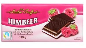 Шоколад Майтре Фруффот с малиновым кремом 100г