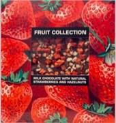 Шоколад Фруктовая коллекция молочный с натуральной клубникой и фундуком 80г